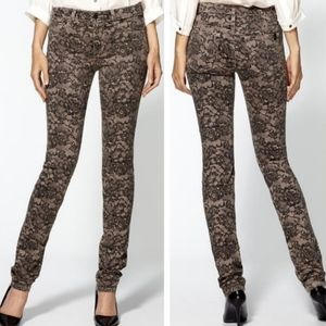 Joe's Jeans Lace Print Stretch Skinny Jeans